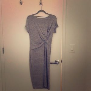 Grey gap dress - medium